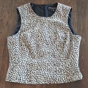 Kasper Cheetah Top